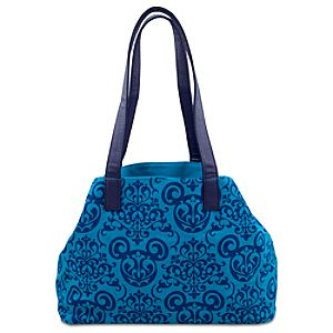 Damask Wallpaper Tote Bag -- Blue