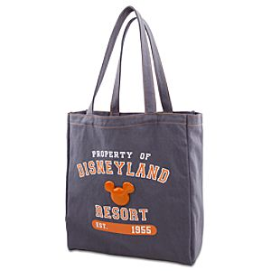 Enamel Disneyland Mickey Mouse Tote Bag -- Gray and Orange
