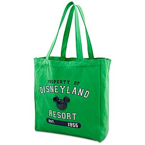 Enamel Disneyland Mickey Mouse Tote Bag -- Green and Navy Blue