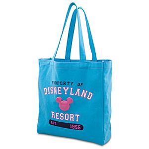Enamel Disneyland Mickey Mouse Tote Bag -- Blue and Pink