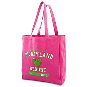 Enamel Disneyland Mickey Mouse Tote Bag -- Pink and Green