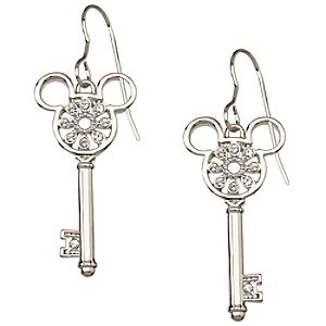 Crystal Key Mickey Mouse Earrings by Arribas -- Flower