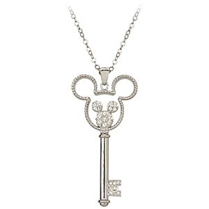 Crystal Key Mickey Mouse Necklace by Arribas -- Mouse Icon