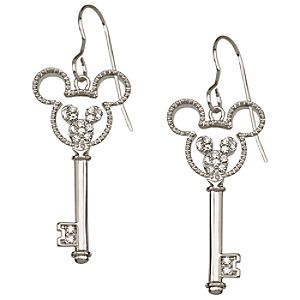 Crystal Key Mickey Mouse Earrings -- Mouse Icon