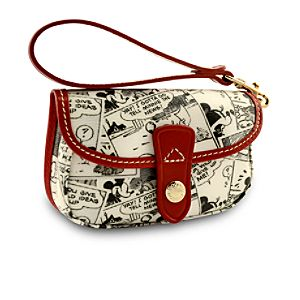 Online Exclusive Comic Strip Mickey Mouse Wristlet Bag by Dooney & Bourke