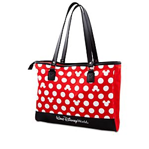 Polka Dot Walt Disney World Minnie Mouse Tote -- Red
