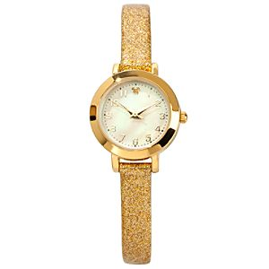 Sparkling Gold Icon Mickey Mouse Watch for Women