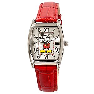 Classic Red Crocodile Mickey Mouse Watch for Adults