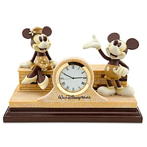 Walt Disney World Minnie and Mickey Mouse Mantle Clock