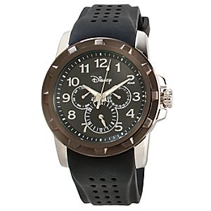 Black Iconic Mickey Mouse Chronograph Watch for Adults