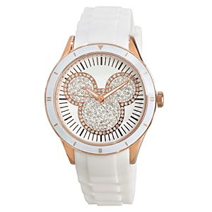 White and Gold Silicon Icon Mickey Mouse Watch for Adults