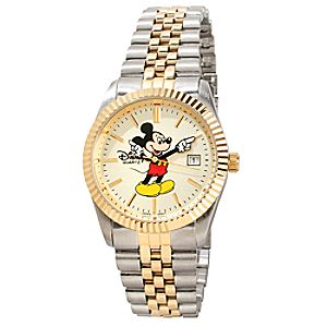 Two-Tone Hands Mickey Mouse Watch -- Large