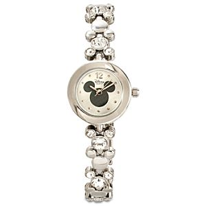 Crystal Link Mickey Mouse Watch
