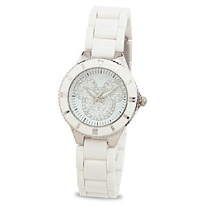 Dazzling Mickey Mouse Watch for Women -- White