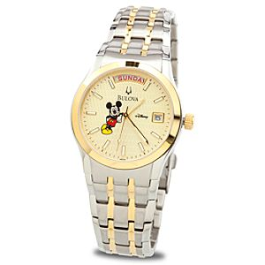 Bulova Two-Tone Mickey Mouse Watch for Adults