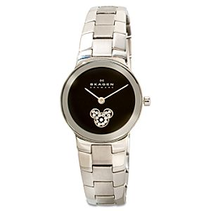 Rhinestone Icon Link Mickey Mouse Watch by Skagen