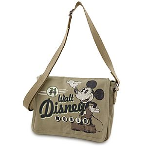 Canvas Walt Disney World Mickey Mouse Messenger Bag