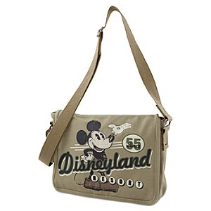 Canvas Disneyland Mickey Mouse Messenger Bag