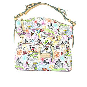 Disney Sketch Letter Carrier Bag by Dooney & Bourke - White