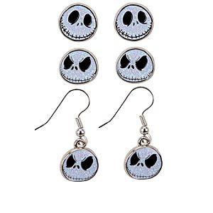 Jack Skellington Pierced Earring Set -- 3-Pairs