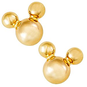 Mickey Mouse Icon Earrings - Gold