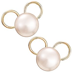 Mickey Mouse Icon Earrings - Pearl