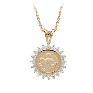 Mickey Mouse Gold Coin Necklace