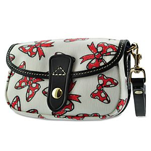 Minnie Mouse Bow Wristlet Bag by Dooney & Bourke - White