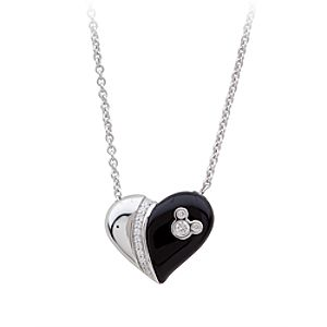 Mickey Mouse Magnetic Heart Necklace by Petra Azar