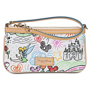 Disney Sketch Leather Wristlet by Dooney & Bourke