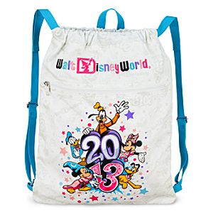 Sorcerer Mickey Mouse and Friends Cinch Sack Tote - Walt Disney World 2013