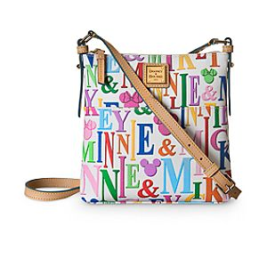 Mickey and Minnie Mouse Rainbow Letter Carrier Bag by Dooney & Bourke