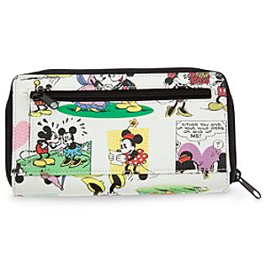 Mickey and Minnie Mouse Comic Strip Wallet