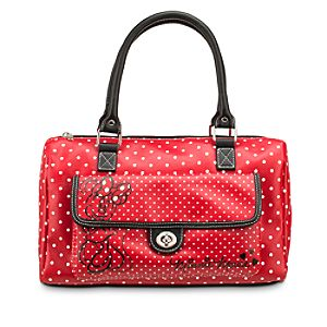 Minnie Mouse Polka Dot Barrel Bag