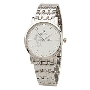 Mickey Mouse Silver Watch for Men by Bulova