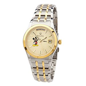 Mickey Mouse Two-Tone Watch for Men by Bulova