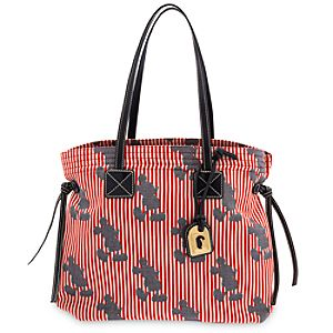 Mickey Mouse Red Striped Victoria Bag by Dooney & Bourke