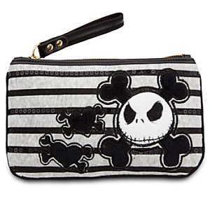 Jack Skellington Velour Wristlet