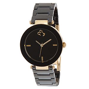 Mickey Mouse Black & Gold Watch for Women