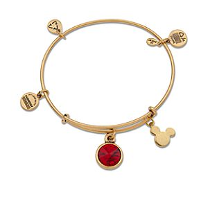 Mickey Mouse Birthstone Bangle by Alex and Ani - Gold