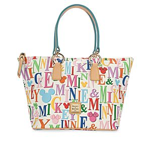 Mickey and Minnie Mouse Rainbow Shopper Bag by Dooney & Bourke
