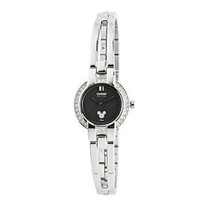 Mickey Mouse Icon Eco-Drive Watch for Women by Citizen - Crystal Bangle