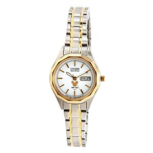 Mickey Mouse Icon Eco-Drive Watch for Women by Citizen - Duo Tone