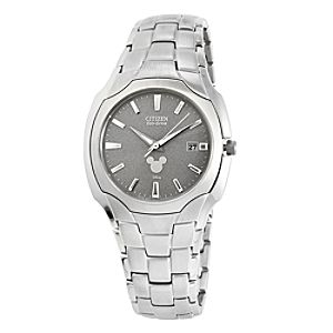 Mickey Mouse Icon Eco-Drive Watch for Men by Citizen - Silver Dial