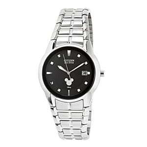 Mickey Mouse Icon Eco-Drive Watch for Men by Citizen - Silver