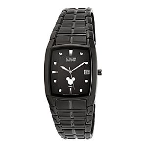 Mickey Mouse Icon Eco-Drive Watch for Men by Citizen - Black