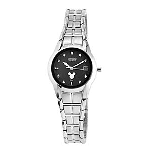 Mickey Mouse Icon Eco-Drive Watch for Women by Citizen - Silver