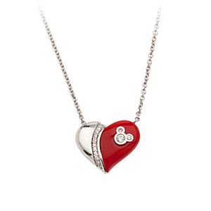 Mickey Mouse Magnetic Red Heart Necklace by Petra Azar