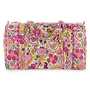 Mickey and Minnie Mouse Bouncing Bouquet Large Duffel Bag by Vera Bradley