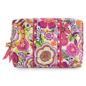 Mickey and Minnie Mouse Bouncing Bouquet Large Cosmetic Bag by Vera Bradley